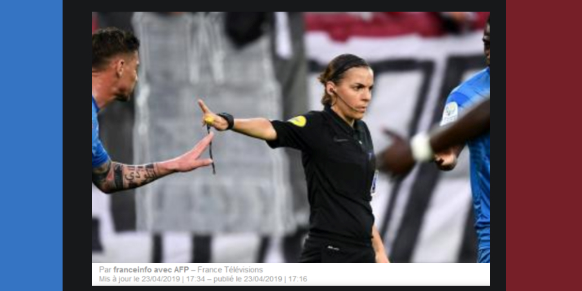 Pour la première fois, un match de Ligue 1 arbitré par une femme !